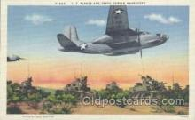 mil001297 - US Planes and Tanks During Maneuvers,  Military Postcard Postcards