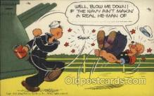 mil001341 - Popeye, Military Comic Postcard Postcards