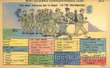 mil001391 - A busy Solider's Correspondence Card Military Postcard Postcards