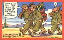mil001832 - Military Comic Postcard Postcards
