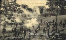 mil002017 - British regulars open fire on the minute men at Lexington, Massachusetts, USA Military Postcard Postcards
