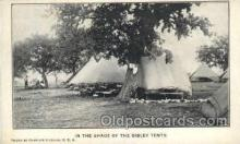 mil002018 - In the Shade of the Sibley Tents, Photo by Chaplain Dickson, USA, Military Postcard Postcards