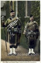 mil002028 - Drum Major and Sergent Bugler, London Scottish Rifle Volunteers, Military Postcard Postcards