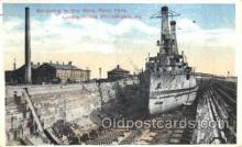 mil002072 - Battleship, League Island, Philadelphia, Usa Military Postcard Postcards