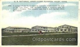 mil002074 - U.S. National Army, Camp Fuston, Riley, Kansas, Usa Military Postcard Postcards