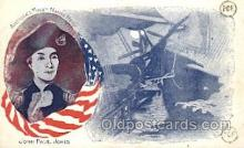 mil002083 - John Paul Jones Military Postcard Postcards