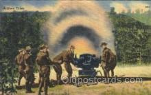 mil002101 - Artillery Fring Military Postcard Postcards