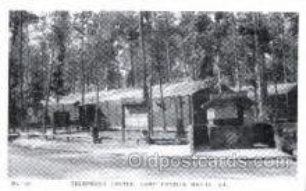 mil002132 - Telephone Center Camp Patrick Henry, VA, USA Postcard Post Cards Old Vintage Antique