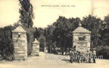 mil002139 - Entrance Gates Camp Mo Kan Postcard Post Cards Old Vintage Antique