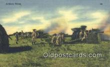 mil002161 - WW II Artillery Firing Military Postcard Post Card Old Vintage Antique