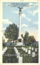 mil002162 - Spanish American War Memorial, Arlington National Cemetery, Virginia, VA USA Military Postcard Post Card Old Vintage Antique