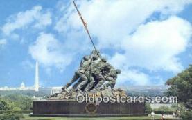 mil002164 - Us Marine Corps War Memorial, Arlington, Virginia, VA USA Military Postcard Post Card Old Vintage Antique
