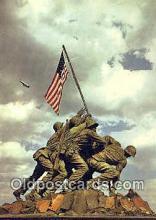 mil002165 - Iwo Jima Statue, Arlington, Virginia, VA USA Military Postcard Post Card Old Vintage Antique