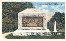 mil002229 - General Crook Monument, Arlington National Military, Cemetery, Virginia, VA USA Military Postcard Post Card Old Vintage Antique