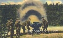 mil002232 - Artillery Firing Military Postcard Post Card Old Vintage Antique