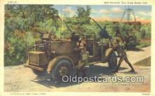 mil002233 - Anti Air Craft fire From Scout Car Military Postcard Post Card Old Vintage Antique