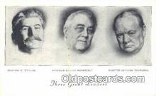 mil002241 - Stalin, Roosevelt, Churchill Military Postcard Post Card Old Vintage Antique