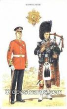 mil002251 - Printed 1986 Scots Guards Military Postcard Post Card Old Vintage Antique