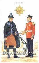 mil002253 - Printed 1986 Irish Guards Military Postcard Post Card Old Vintage Antique