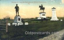 mil002266 - Statues Of Generals Reynolds and Butford, Gettysburg, Pennsylvania, PA USA Military Postcard Post Card Old Vintage Antique