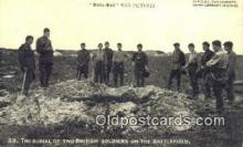mil002284 - The Burial Of Two British Soldiers on The Battlefield Military Postcard Post Card Old Vintage Antique