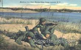 mil002286 - Machine Gun Nest, Camp Lejeune, North Carolina, NC USA Military Postcard Post Card Old Vintage Antique