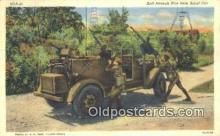 mil002310 - Anti Air Craft fire From Scout Car Military Postcard Post Card Old Vintage Antique