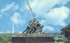 mil002320 - Us Marine Corps War Memorial, Arlington, Virginia, VA USA Military Postcard Post Card Old Vintage Antique