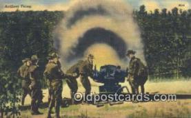mil002322 - Artillery Firing Military Postcard Post Card Old Vintage Antique