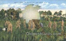 mil002323 - WW I Service Firing Military Postcard Post Card Old Vintage Antique