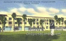 mil002338 - Kentucky Military Institute, Venice, Florida, FL USA Military Postcard Post Card Old Vintage Antique