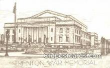 mil002366 - Trenton War Memorial, Trenton, New Jersey, NJ USA Military Postcard Post Card Old Vintage Antique