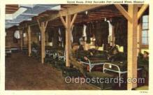 mil003004 - Squad Room, Army Barrack, Fort Leonard Wood, Missouri, USA Military Linen Postcard Postcards