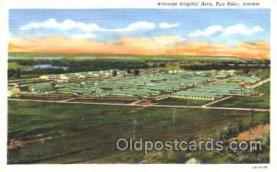 mil003005 - Whitside Hospital Area, Fort Riley, Kansas, USA Military Linen Postcard Postcards
