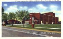 mil003006 - New Administration Building and Theater, Camp Perry, Ohio, USA Military Linen Postcard Postcards