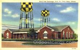 mil003013 - Main Post Exchange, Scott Air Force Base, Illinois, USA, Military Linen Postcard Postcards