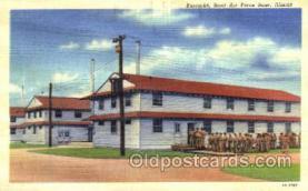 mil003020 - Barracks,Scott Air Force Base, Illinois, USA, Military Linen Postcard Postcards