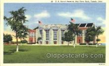 mil003027 - U.S. Naval Reserve, Bay View Park, Toledo, USA,  Military Linen Postcard Postcards