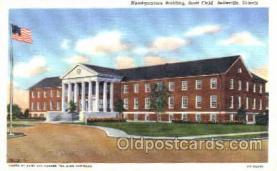 mil003030 - Headquarters Building, Scott Field, Belleville, Illinois, USA Military Linen Postcard Postcards
