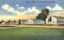 mil003033 - Fort Custer, Battle Creek, Michigan, USA Military Linen Postcard Postcards
