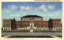 mil003034 - Post Hospital, Chatnute Air Force Base, Illinois, USA, Military Linen Postcard Postcards