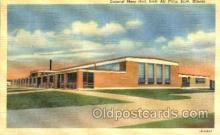 mil003041 - Mess Hall, Scott Airforce Base, Illinois, USA, Military Linen Postcard Postcards