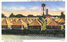 mil003047 - Tented Area, Camp Perry, Ohio on Lake Erie, USA,  Military Linen Postcard Postcards