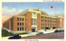 mil003050 - Armory, Minneapolis, Minnisota, USA,  Military Linen Postcard Postcards
