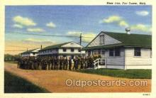 mil003052 - Mess Line, Fort Custer, Michigan, USA, Military Linen Postcard Postcards