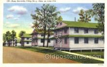 mil003053 - Army Barracks, Camp Perry, Ohio, USA on Lake Erie, Military Linen Postcard Postcards