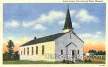 mil003054 - Army Chapel, Fort Leonard Wood, Missouri, USA,  Military Linen Postcard Postcards