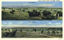 mil003055 - Camp Funston Area, Fort Riley, Kansas, USA,  Military Linen Postcard Postcards