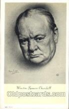 mil004002 - Winston Spencer Churchill  Postcard Post Cards Old Vintage Antique