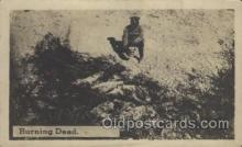 mil005004 - Zercher Photos Mexican War, Burning Dead Mexican War Postcard Postcards